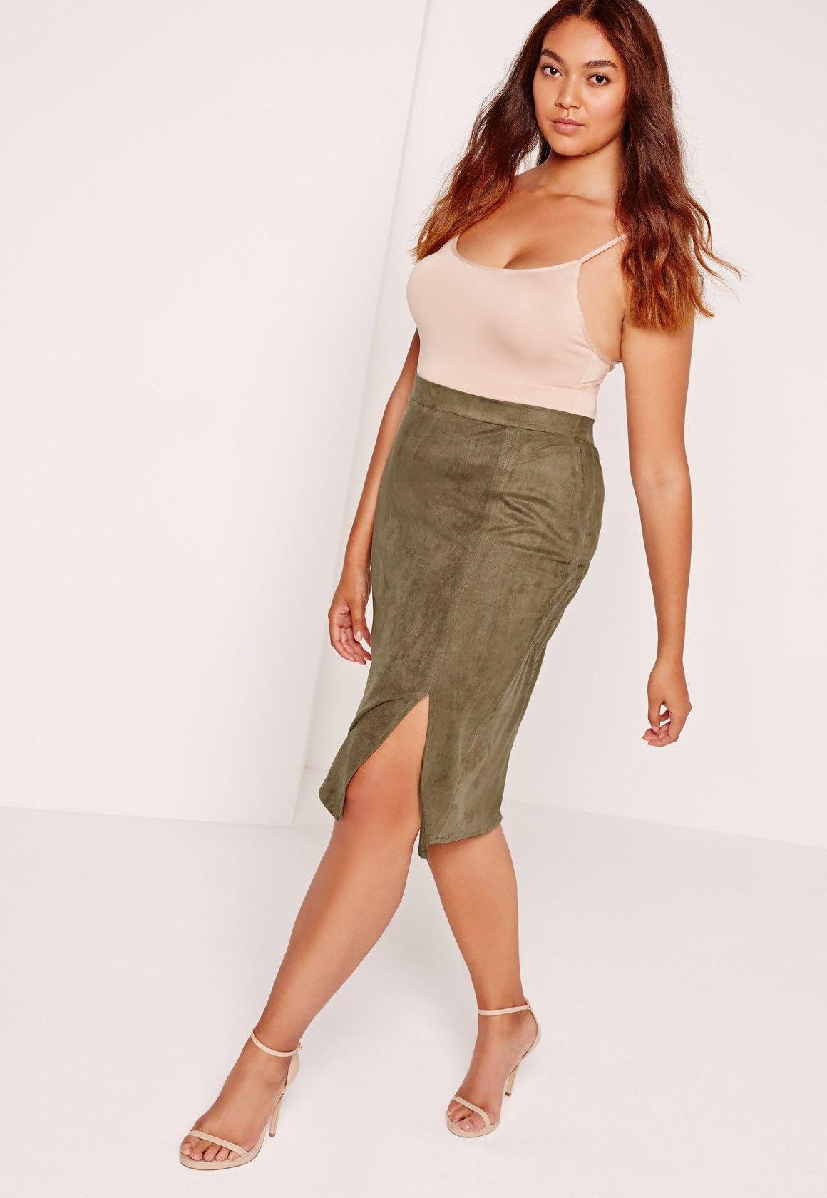 284d8a1ce Missguided Pleated Velvet Midi Skirt In Green