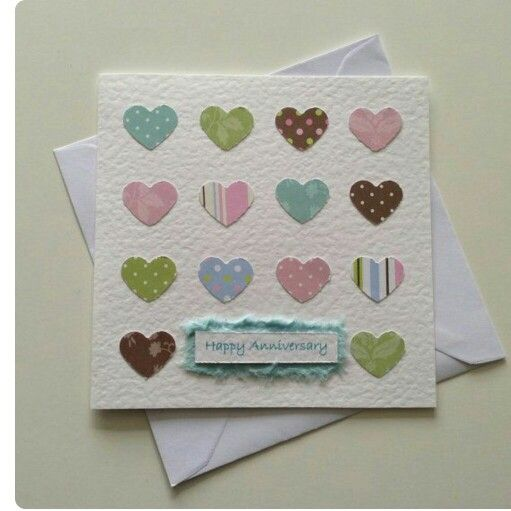 Hearts Anniversary Card Rs 199 Happy Anniversary Cards Cards Handmade Paper Cards