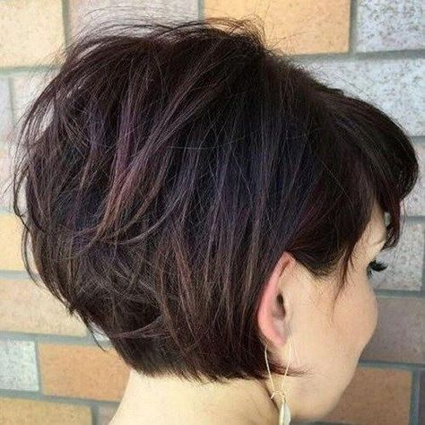 Short Stacked Bob Haircuts for Thick Hair | Beauty | Pinterest ...