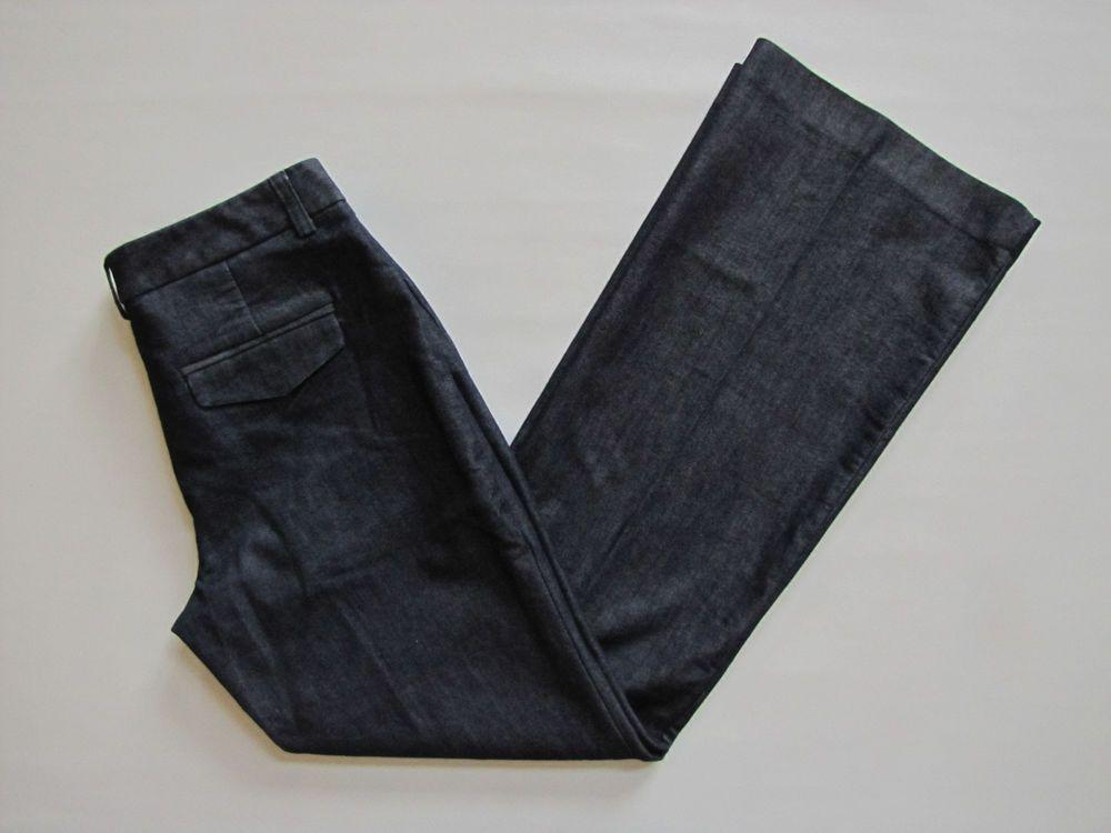Express Editor Denim Jeans Pants 6 R Dark Trouser Flare leg Stretch Flap pocket #Express #DenimEditor