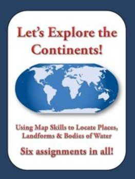 This is a bundle of six map skills assignments for Europe Asia
