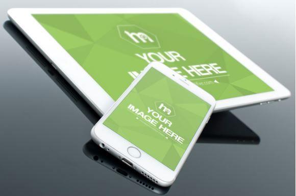 iPhone and iPad Closeup Mockup Template | ShareTemplates
