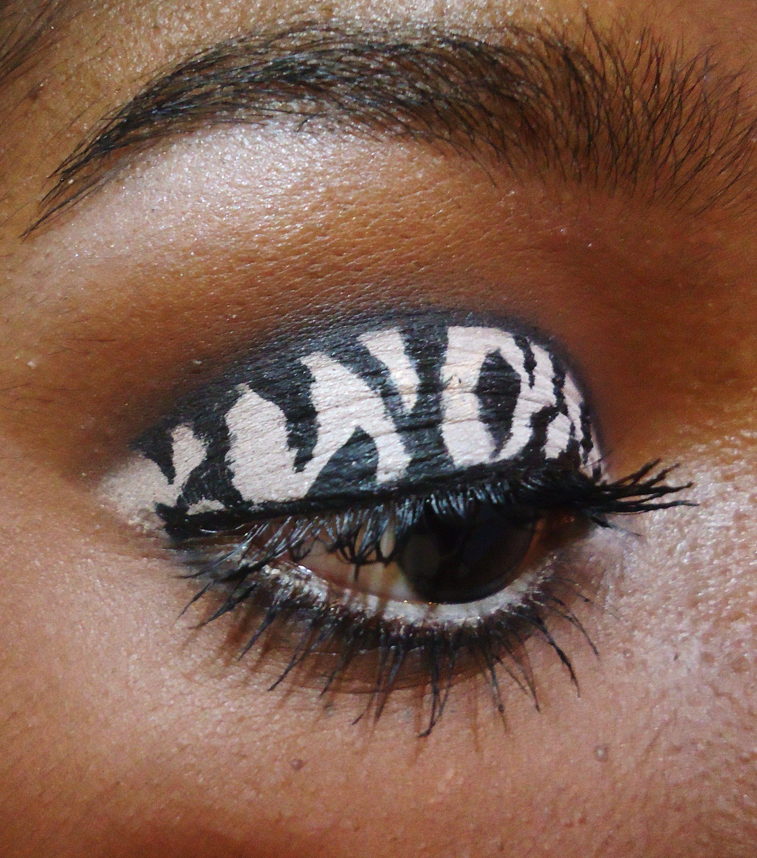 Zebra Print Zebra Print Pretty Makeup Eye Makeup