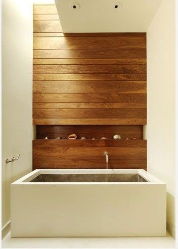 Beautiful Organic Neutral Bathroom with timber feature wall  #organic #bathroom #featurewall