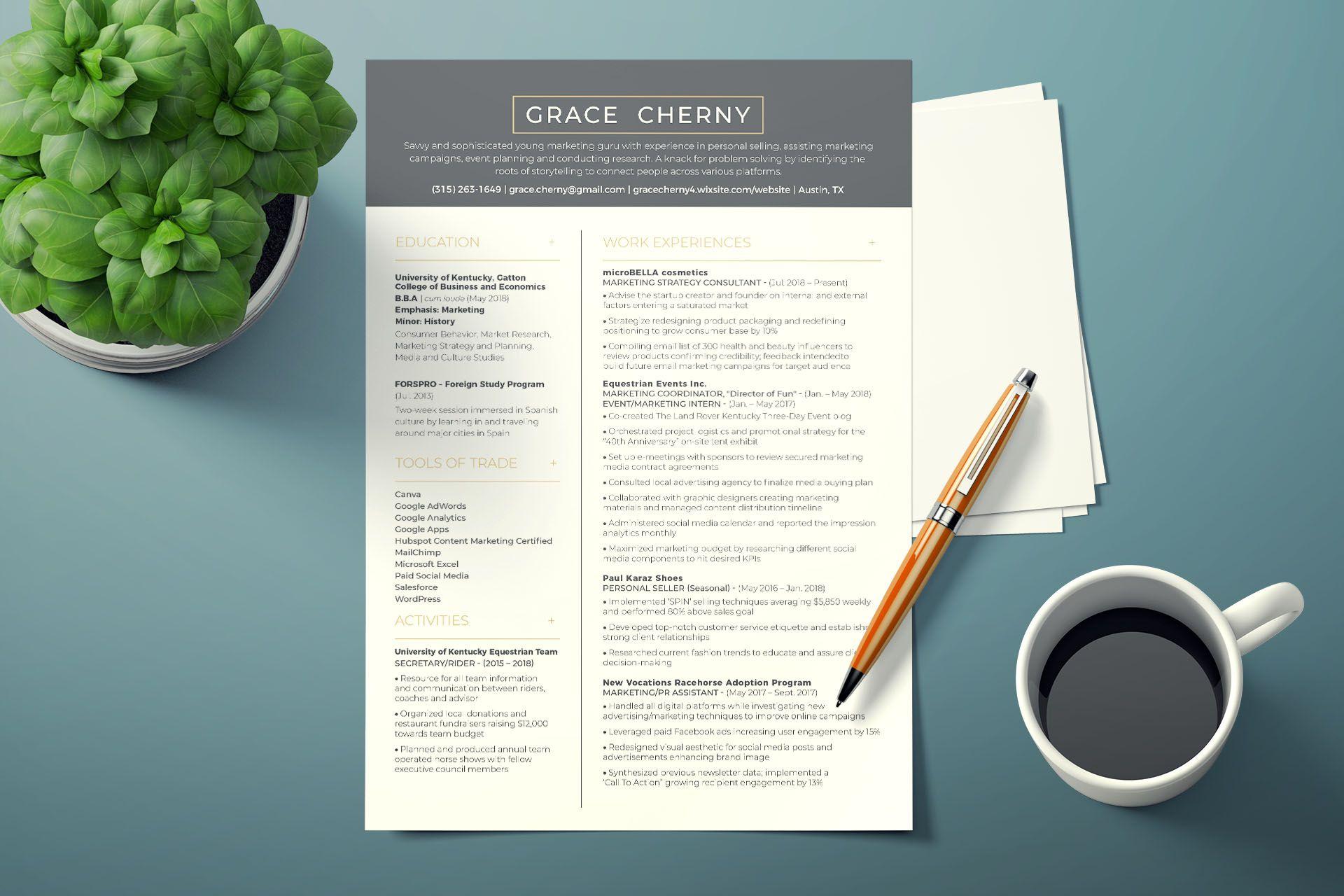 design, edit, write your resume, and cover letter | Résumé ...