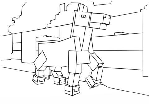 minecraft pferd ausmalbild