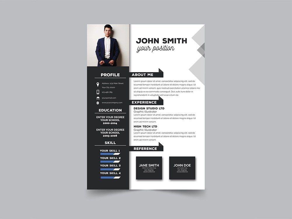 Free Modern Formal Resume Template With Clean Design Desain Cv Cv Kreatif Riwayat Hidup
