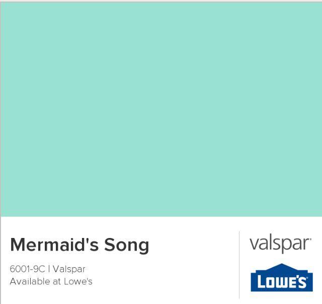 Mermaid Mist paint color - perfect for Kendall's mermaid room!