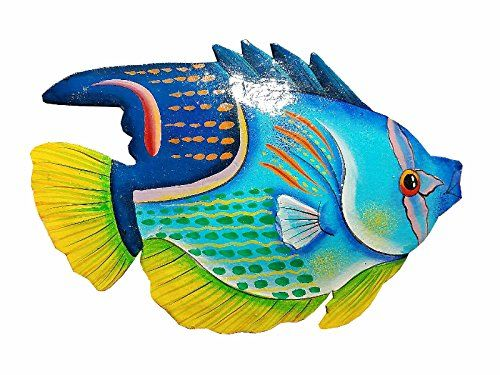 Hand Chiseled And Painted Tropical Metal Art Wall Decor F Https Www Amazon Com Dp B06zy68z6n Ref Cm Sw R Pi Dp X Nkabz Fish Art Fish Painting Ceramic Fish