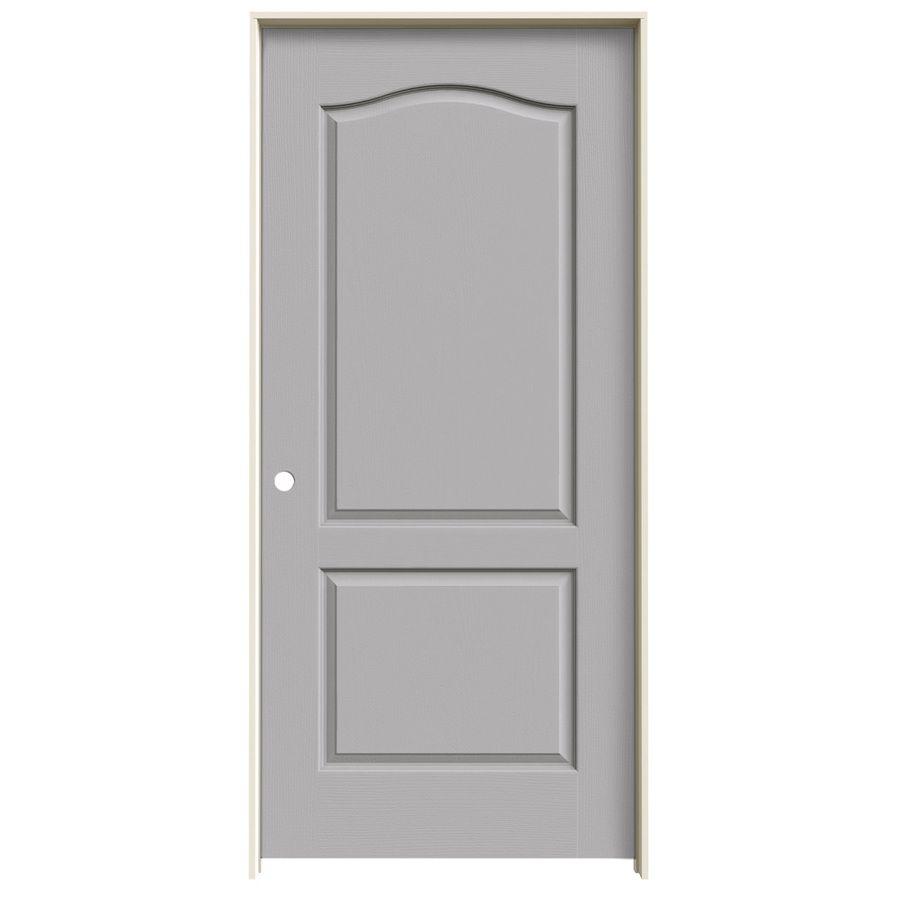 Jeld Wen Driftwood 2 Panel Arch Top Single Prehung Interior Door Common 36 In X 80 In Actual Prehung Interior Doors Prehung Doors Hollow Core Interior Doors