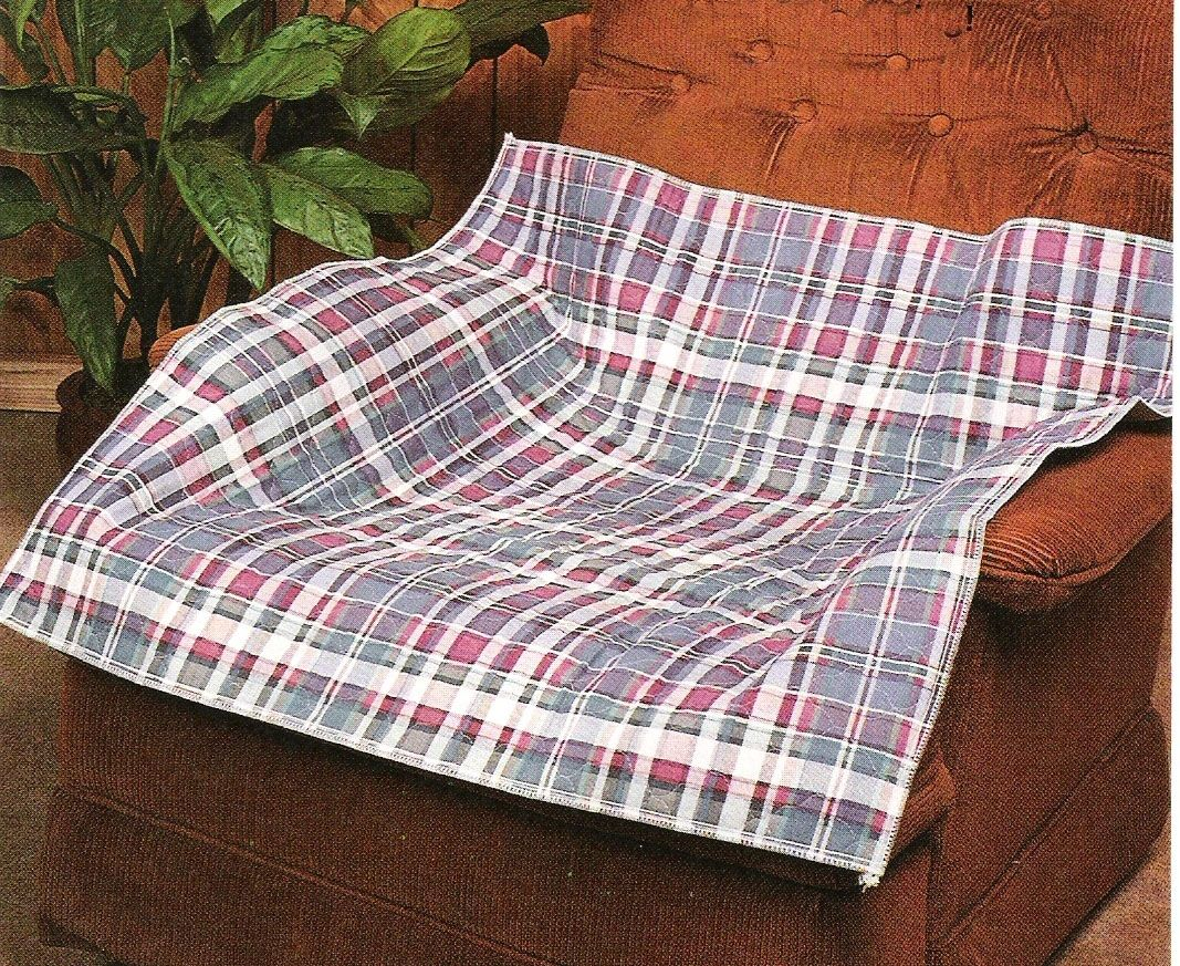 Quilted Plaid Incontinence Pad *This beautiful plaid