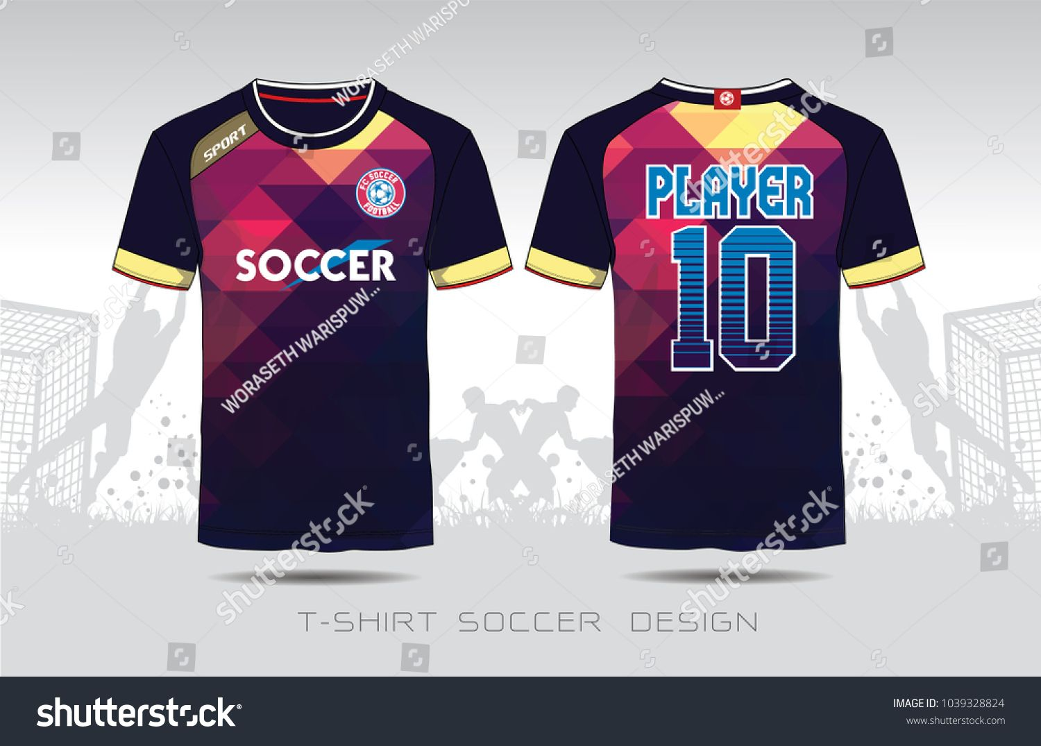 bf304cd54 Uniform football Design. Purple and black layout Soccer jersey or football  kit template for sport