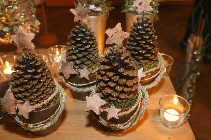 Boże Narodzenie Drzewko Deko Pinterest Pinecone, Christmas