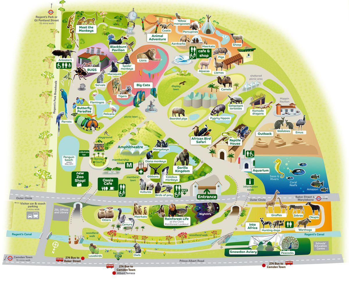 London Zoo Map Jpg 1200 985 Zoo Map London Zoo Theme Park Map