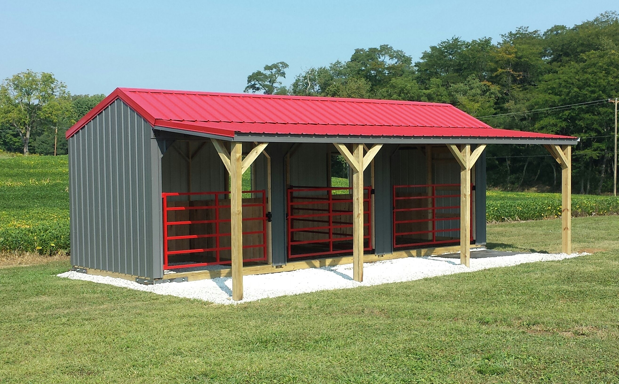 Run In Shed in 2020 | Simple horse barns, Horse barns ...