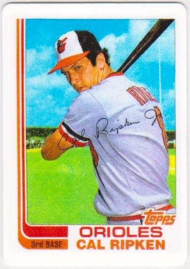 You Must See This Rare 1982 Topps Traded Cal Ripken Jr 98t Porcelain Rookie Card Baseball Cards Old Baseball Cards Baseball Card Values