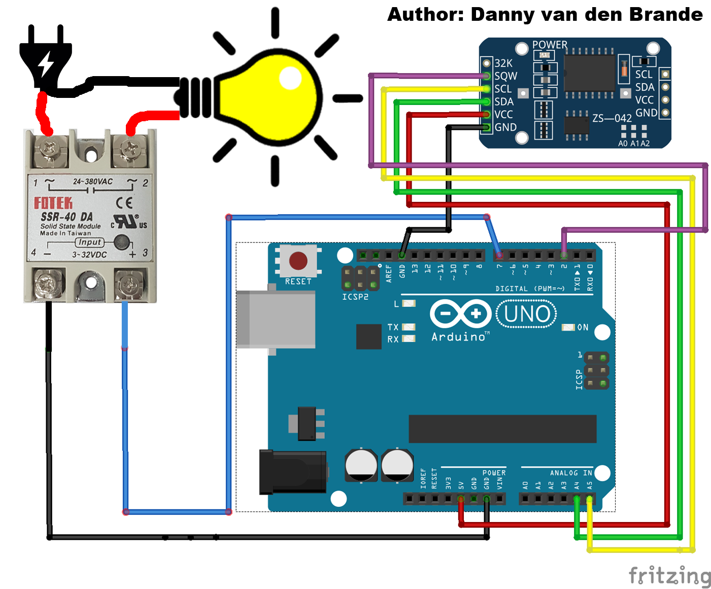 today i made a code to automate your solid state relay as a timer with a ds3231 rtc clock and arduino i made this project to automate a lamp for  [ 1401 x 1161 Pixel ]