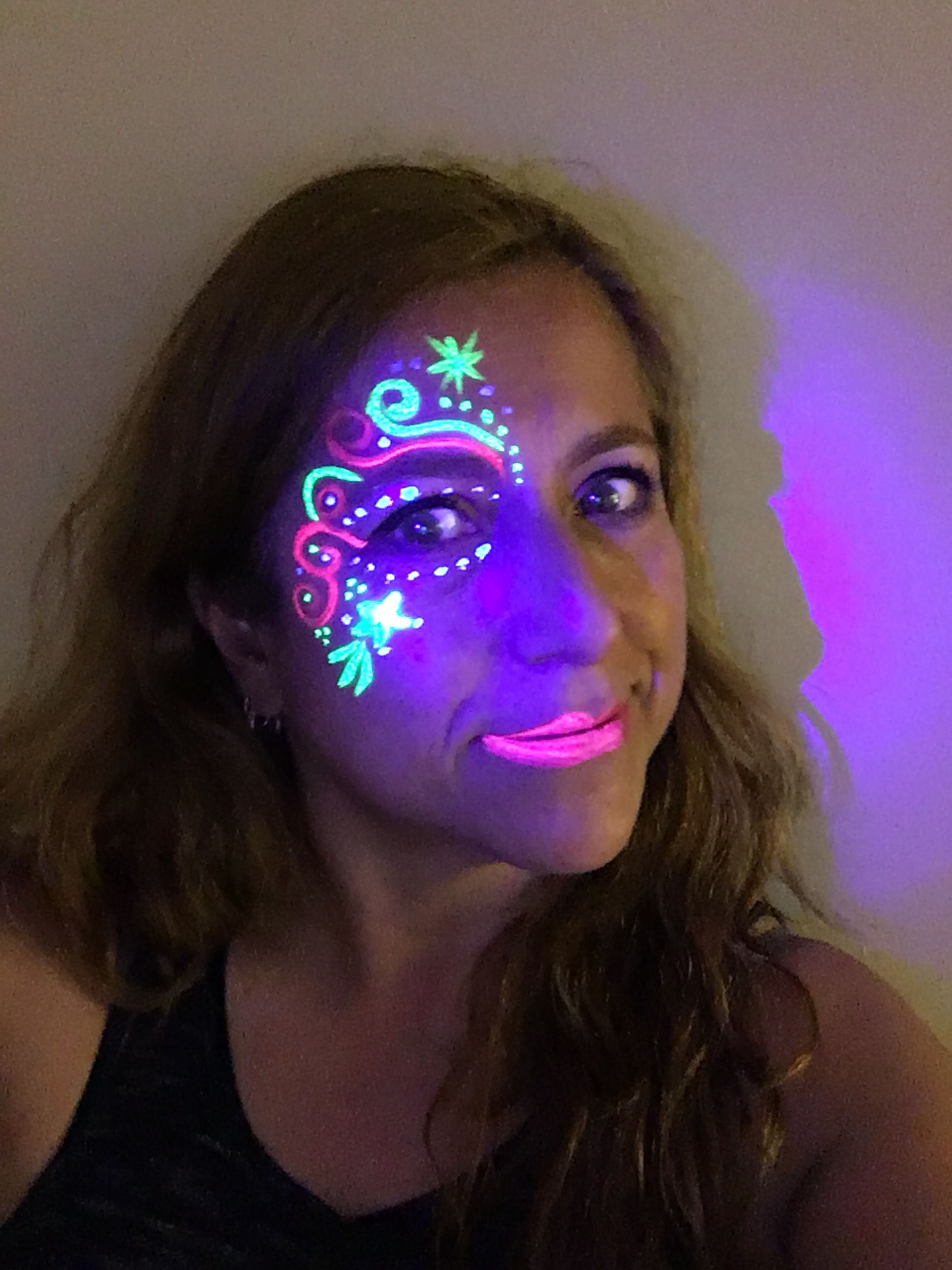 Glow in the dark  Face painting
