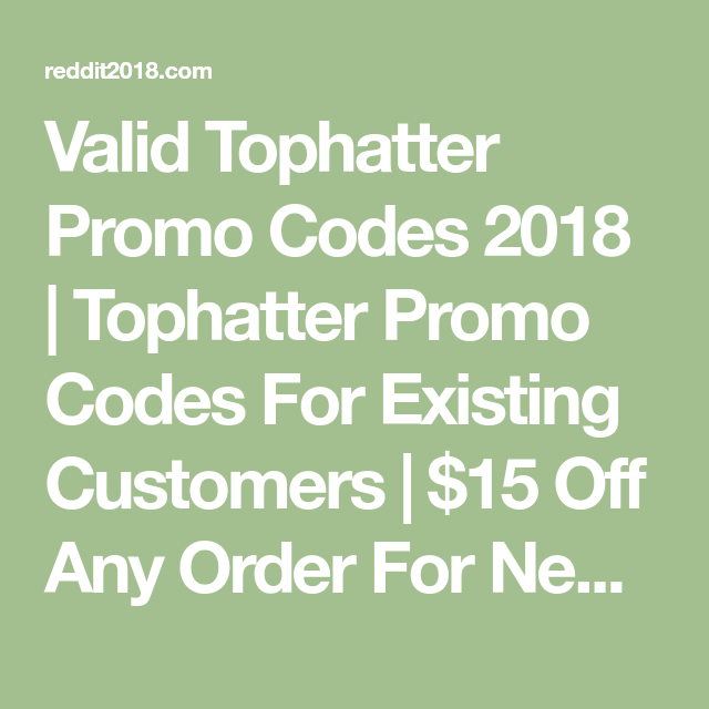 Valid Tophatter Promo Codes 2018 | Tophatter Promo Codes For