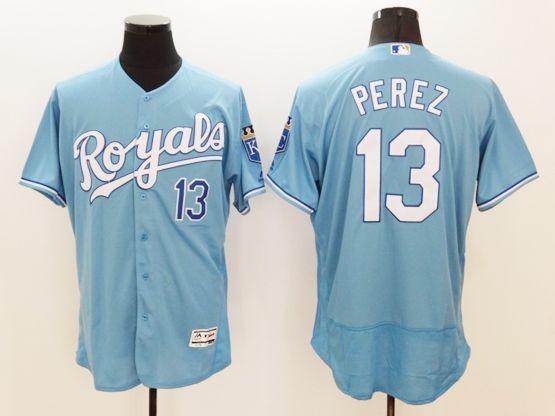 f8da15b63 ... coupon for majestic kansas city royals 13 salvador perez sky blue  flexbase collection jersey 29050 4d019