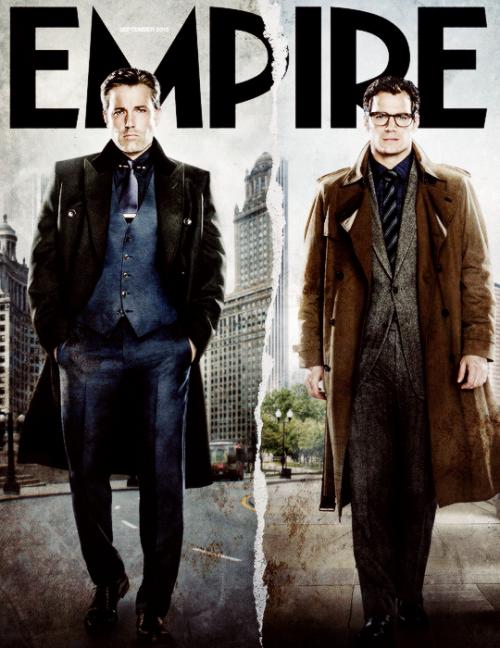 Batman v Superman on the cover of Empire Magazine, September 2015.