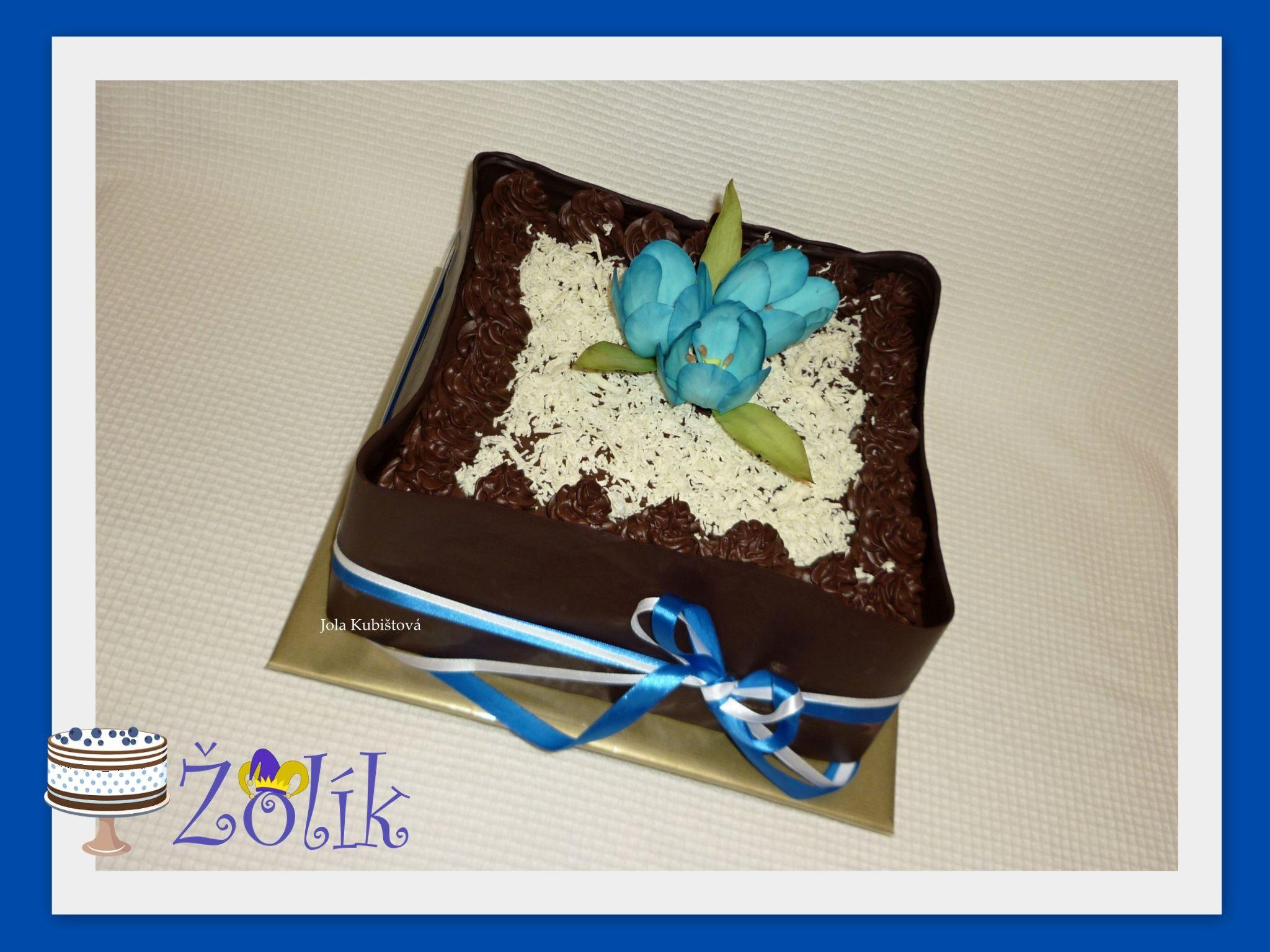 Blue tulip cake