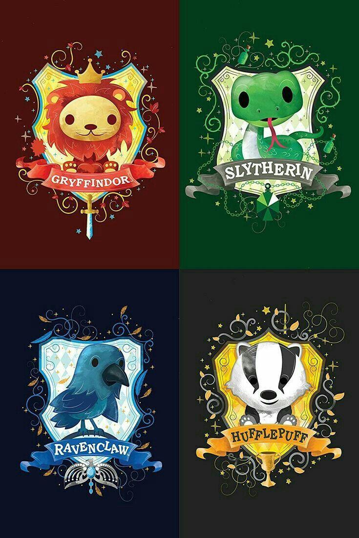 Griffondor, Serpentard, Serdaigle et Poussoufle. La qu'elle trouver vous la plus mignonne