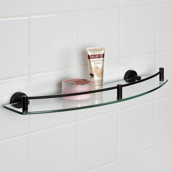 Bristow Collection Curved Tempered Glass Shelf - Oil Rubbed Bronze ...