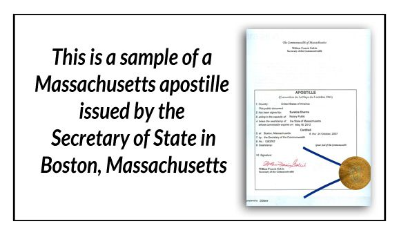 This is a sample of a Massachusetts apostille issued by the - copy apostille birth certificate massachusetts