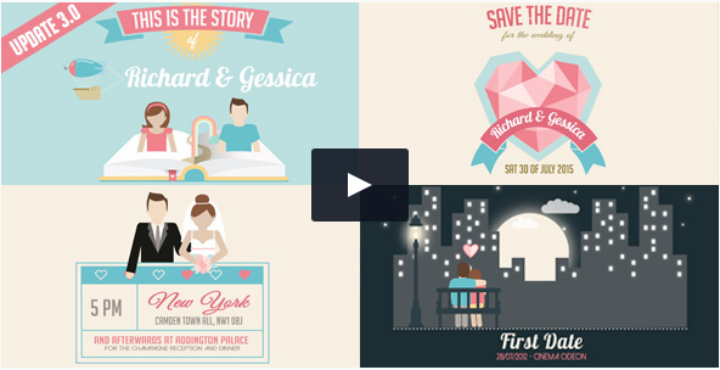 Wedding Invitation Templates After Effects (1 di 2020