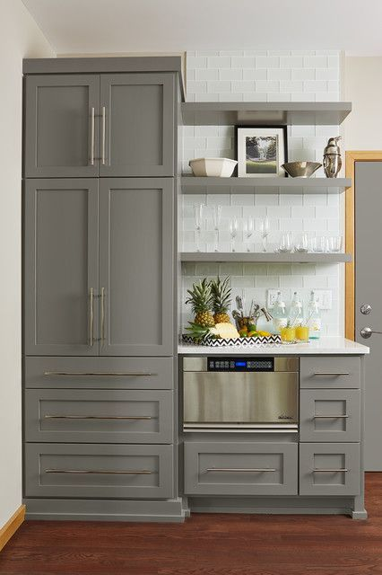 Best Gray Kitchen Cabinets In Benjamin Moore Chelsea Gray With 640 x 480