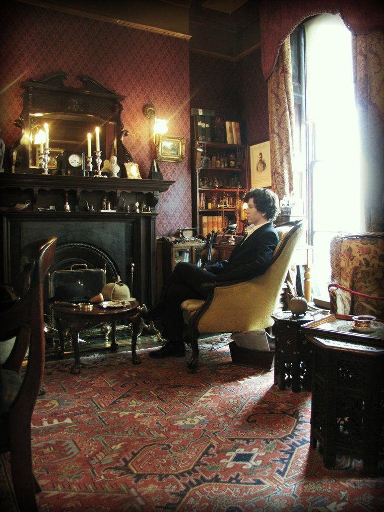 Living room victorian pinterest baker street sofas and 221b -  Sherlock 221b Baker Street