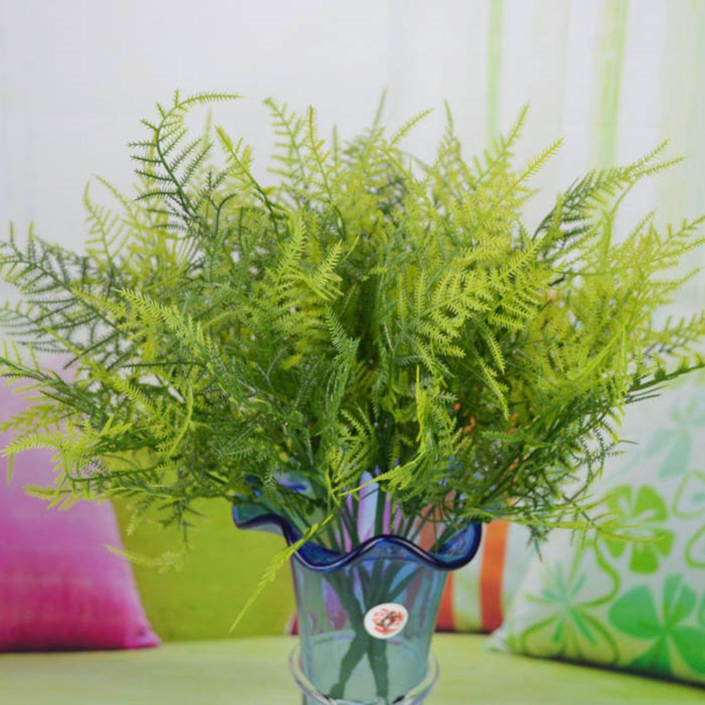 Plastic 7 Stems Artificial Asparagus Fern Plant Home Office Wedding Greenery