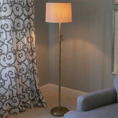 Darla 64 5 Floor Lamp Adjustable Floor Lamp Traditional Floor