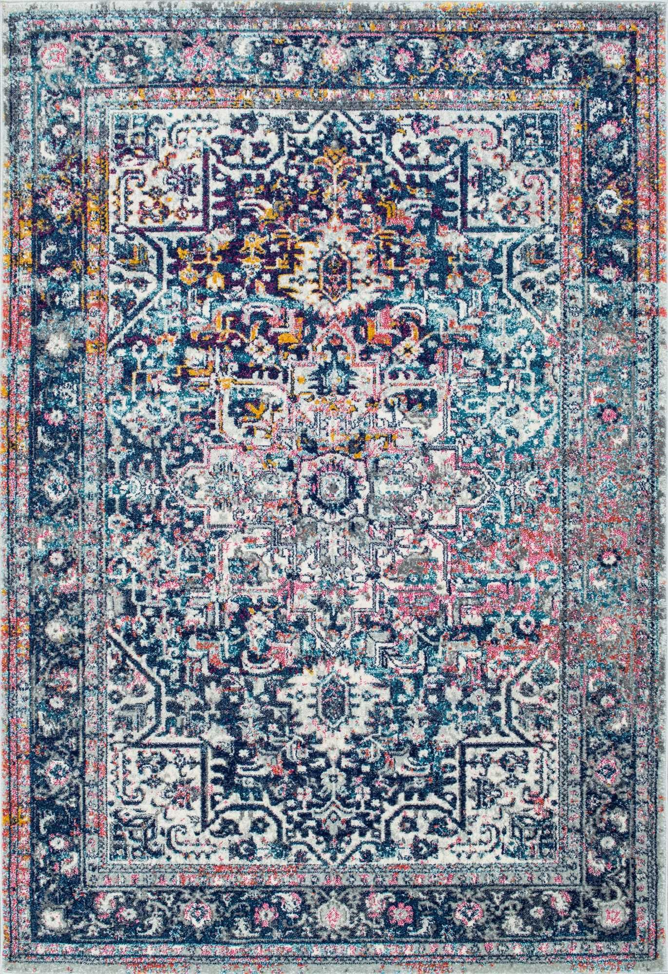 Bosphorus Bd38 Faded Star Petal Emblem Rug Home