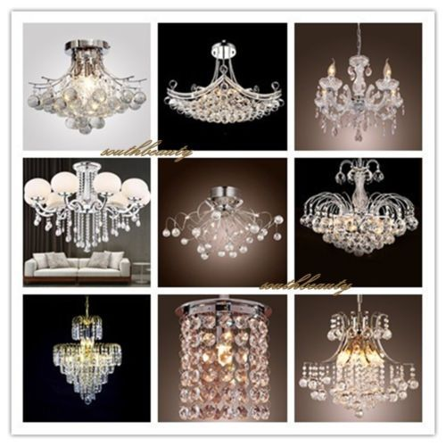 Elegant Crystal Chandelier Ceiling Light Lamp Antique Pendant