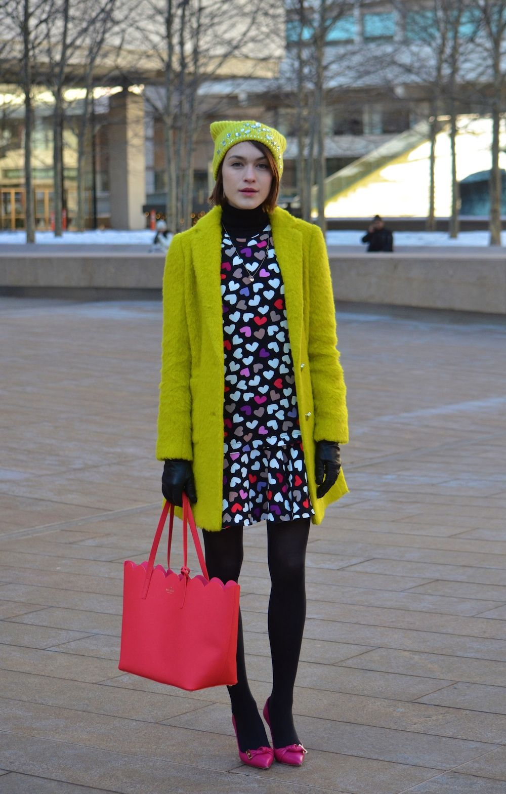 My loook for #NYFW #AW15 day 1 // wearing kate spade ny, Markus Lupfer and Mulberry // click through for my full show diary