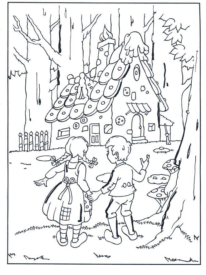 Perníková chaloupka - omalovánka | Cartoon coloring pages, Coloring pages,  Coloring books