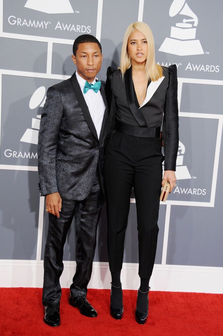 Pharrell Williams and Helen Lasichanh arrive at the 55th ...