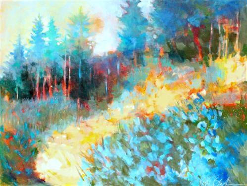 "Daily Paintworks - ""On the Golden Path "" - Original Fine Art for Sale - © Kerri Blackman"