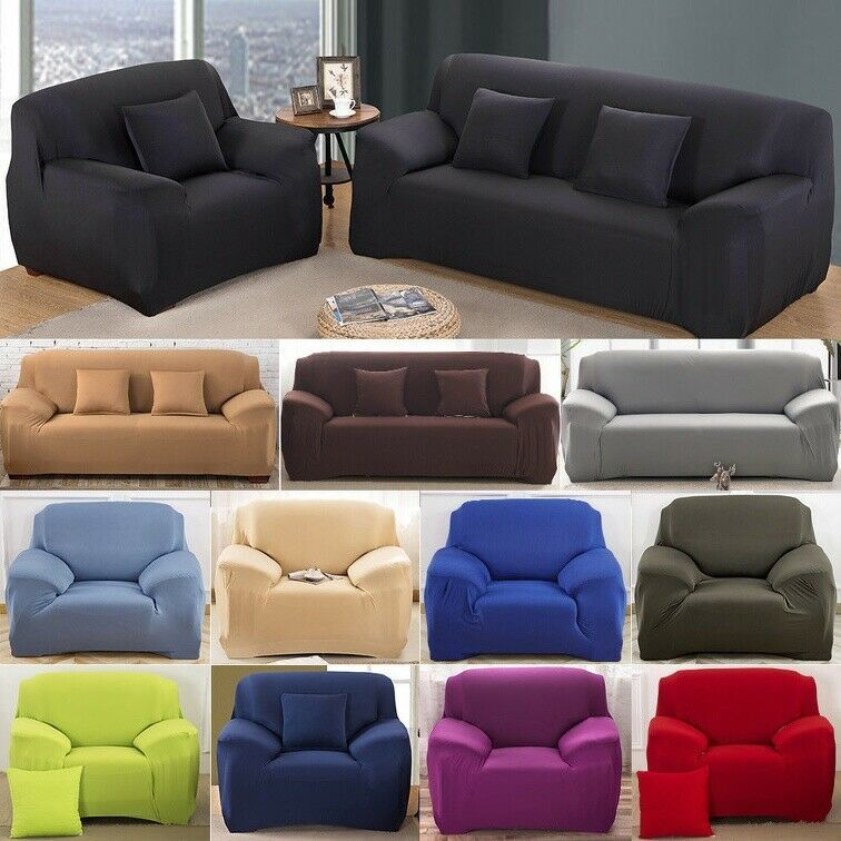 Stretch Sofa Slip Cover Washable Elastic Fabric Couch Slipcover 1 2 3 4 Seater Kitchen Sofa Ideas Of Kitch Fabric Sofa Cover Kitchen Sofa Slip Covers Couch