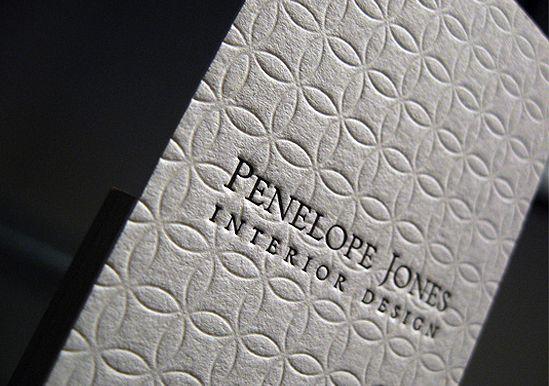 Penelope Jones - deboss/foil stamp