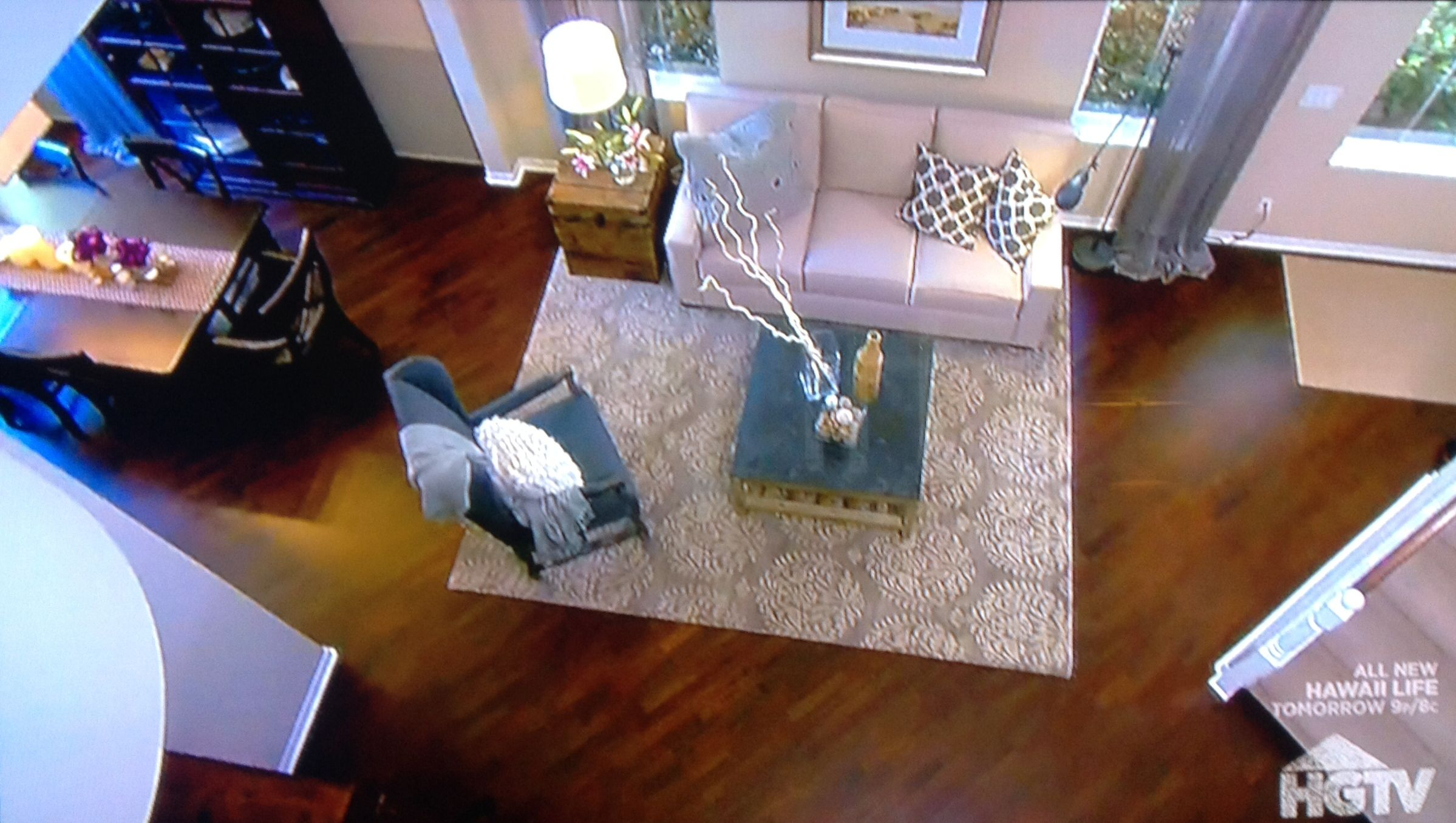HGTV House Hunters' bird's eye view of our after picture. Jo-Ann Capelaci Interior Design