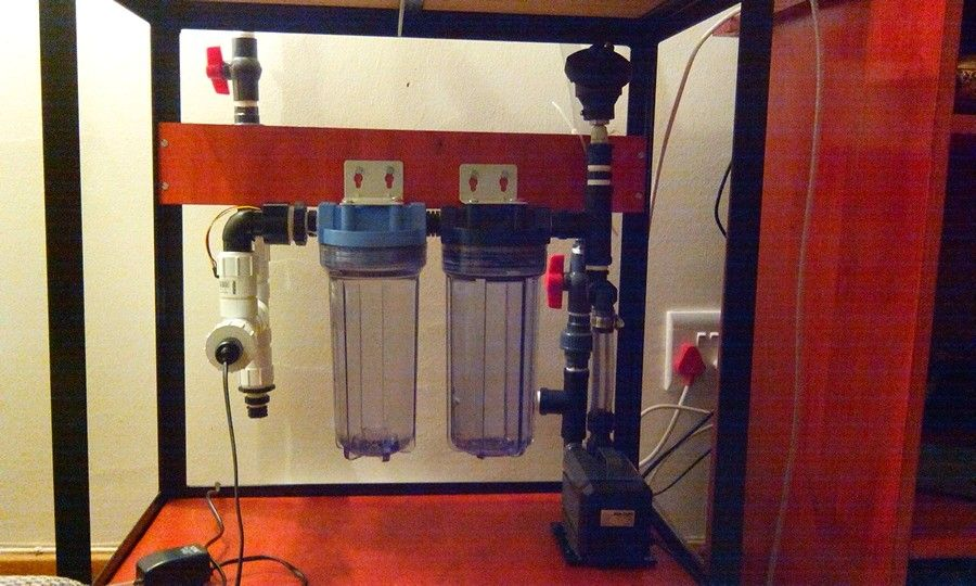 My diy closed loop aquarium filter and inline heater for Fish tank with filter and heater
