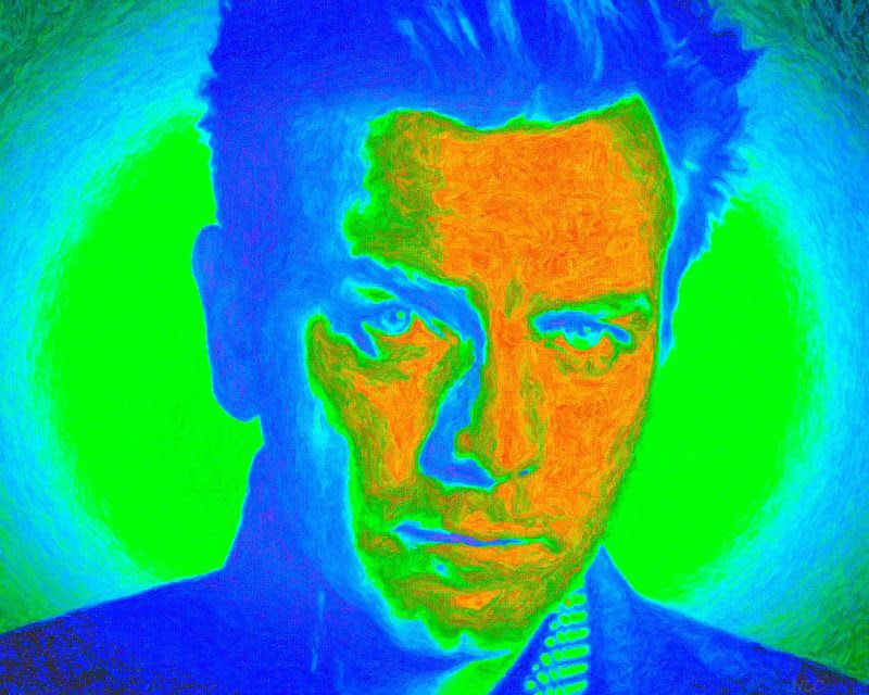 """ Jude is Jude Law "" Of N-L-C: ""Ewan McGregor 2013"" while paintings by NLC"