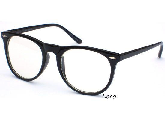 thin frame retro wayfarer style clear lens glasses black hipster polite specs