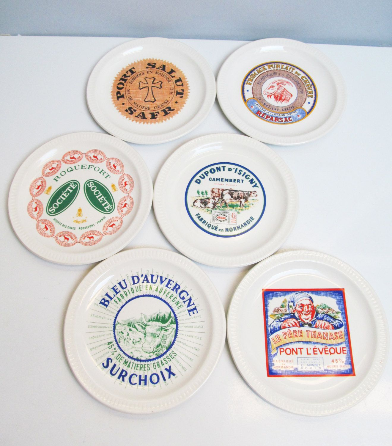 6 (six) vintage Faience Ceramic St Amand France Cheese Plates French collector serving plates  sc 1 st  Pinterest & 6 (six) vintage Faience Ceramic St Amand France Cheese Plates French ...