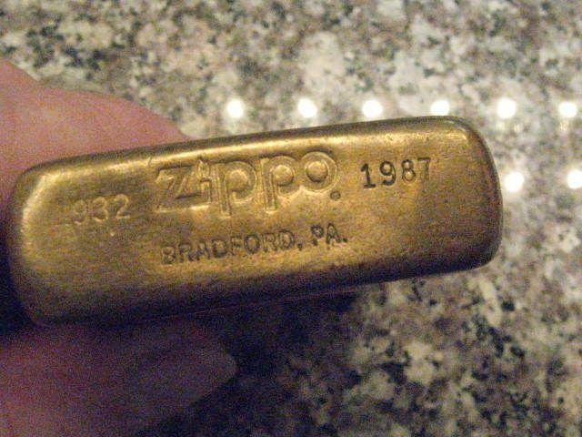 Vintage Brass Zippo Lighters Free Stuff Zippo Vintage Solid Brass Zippo Lighter 1932 1987 Zippo Lighter Zippo Solid Brass