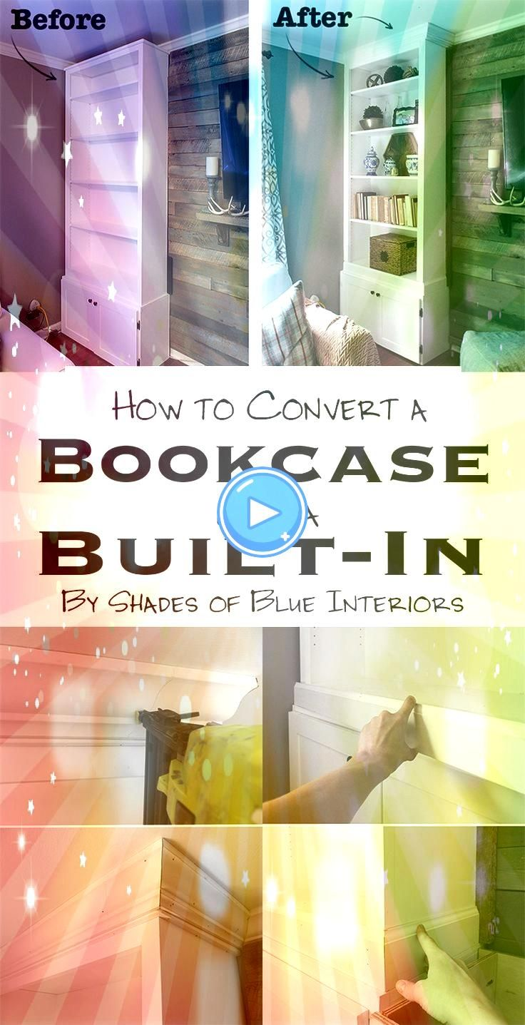 on how to turn a bookcase into a builtin Hanging Curtains Made Ridiculously Easy KwikHangs revolutionary no drill curtain rod brackets install in seconds saving you time...