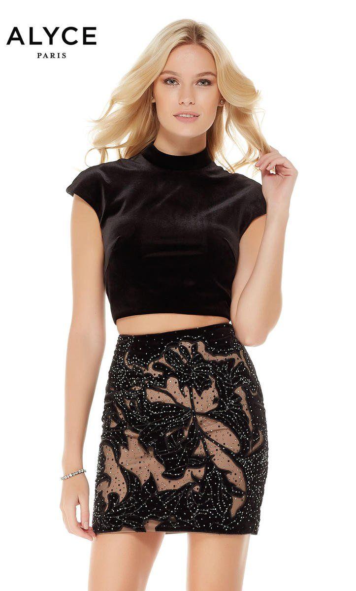 Alyce paris cap sleeve velvet piece short dress alyce paris